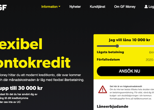 GF Money – nu hos Expressen Låneguiden